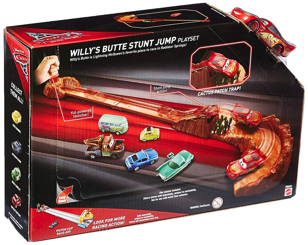 Disney Pixar Cars 3 Willy's Butte Stunt Jump Playset