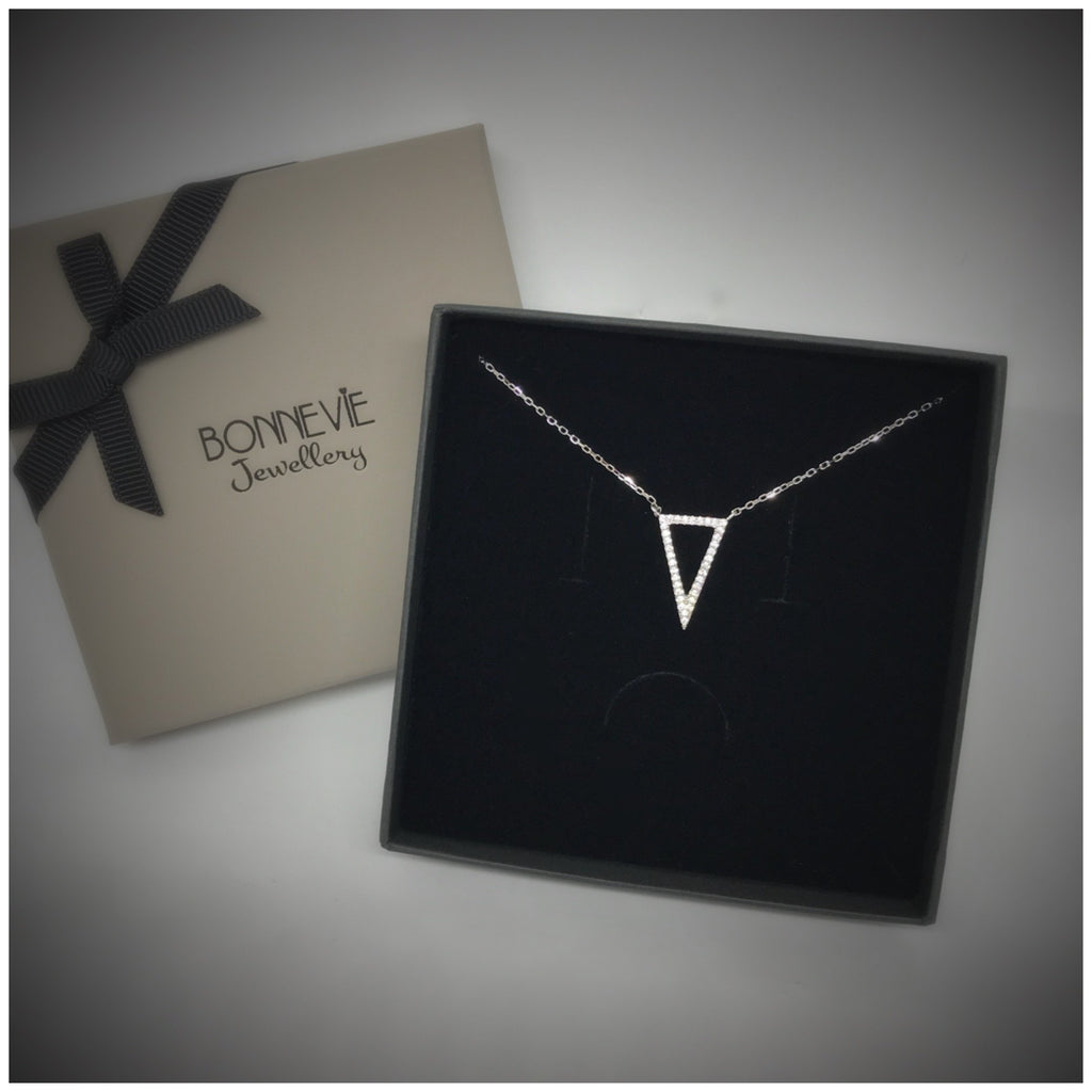 Bonnevie Designer Sterling Silver Trinity Necklace