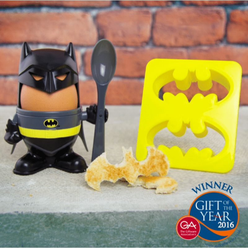 Batman Egg Cup and Toast Cutter | Batman gifts