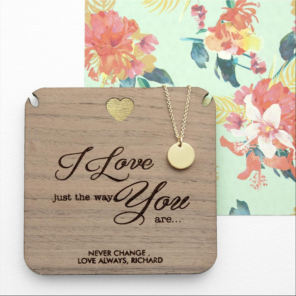 Personalised Just The Way You Are Necklace & Keepsake