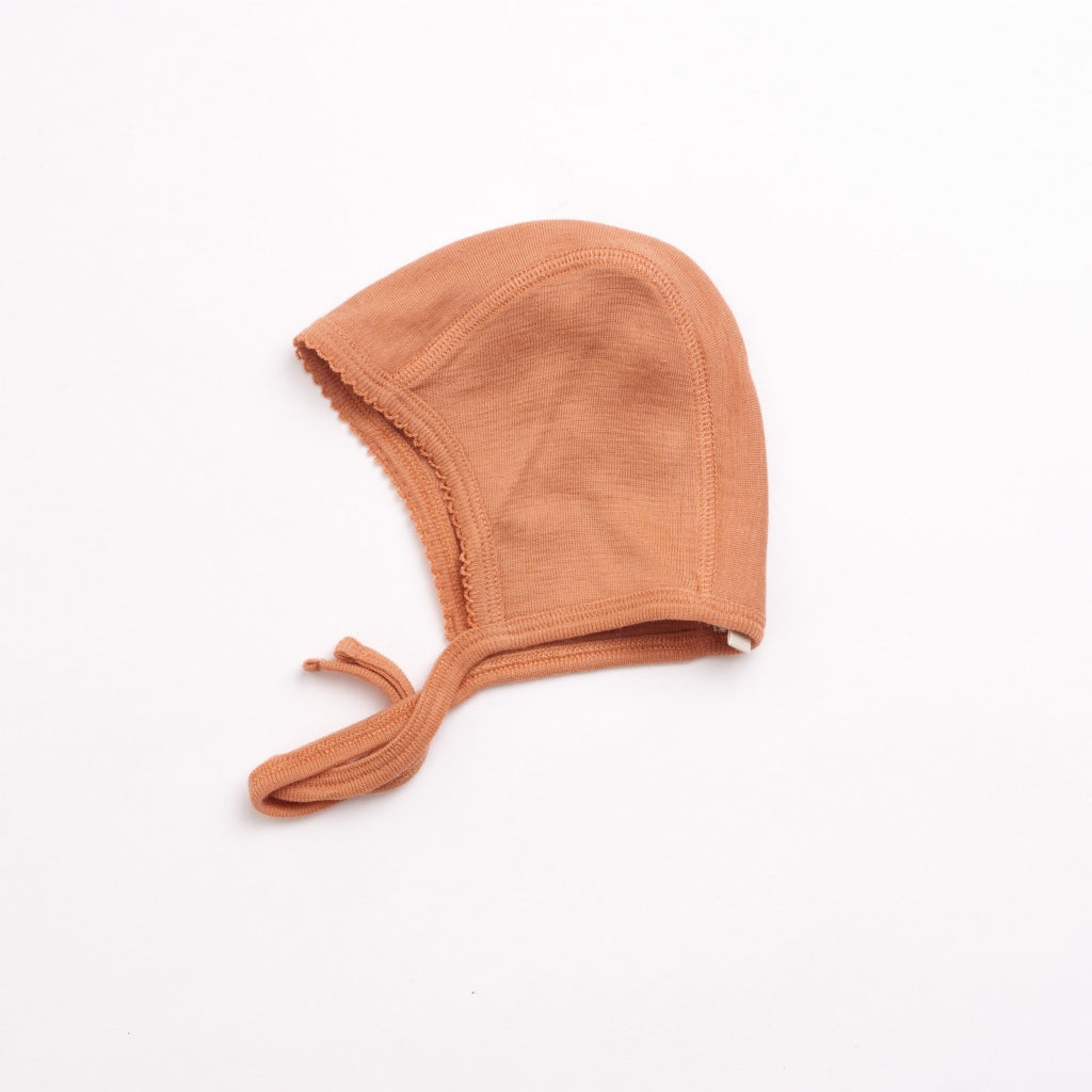 organic woolen bonnet - copper