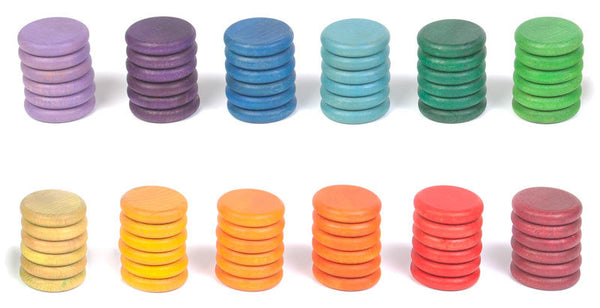 Grapat - set of 72 coins in 12 colors