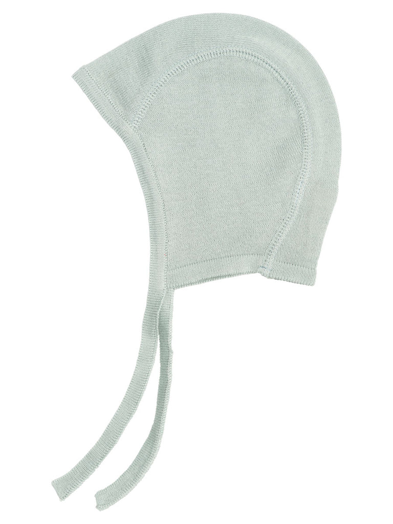 Serendipity organic knitted baby bonnet - cloud grey