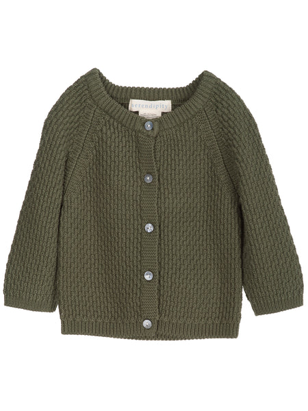 Serendipity Organics Cotton Cardigan - rosemary