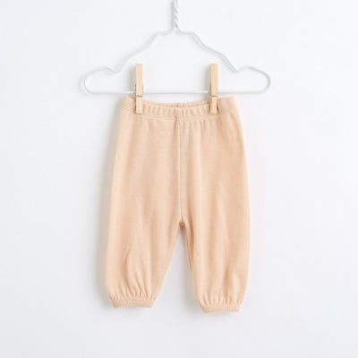 organic merino wool wide pants - light peach