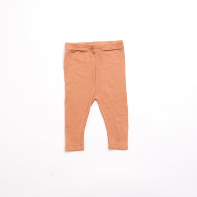 organic merino wool baby leggings - copper