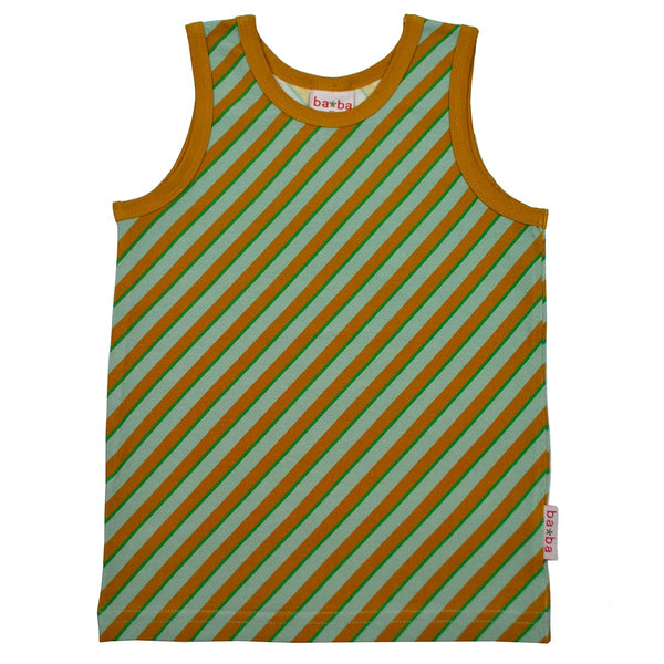 Diagonal Blue Tank