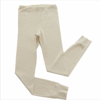 wool silk base layer bottoms - natural