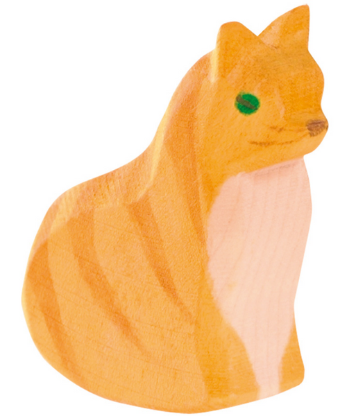 ostheimer orange cat, sitting