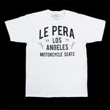 Men's Le Pera White Text T-Shirt