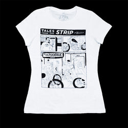 Women's Le Pera White Comic T-Shirt