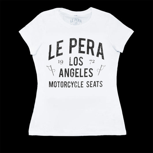Women's Le Pera White Text T-Shirt