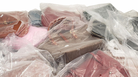How most fashion companies ship their products, in individual plastic bags