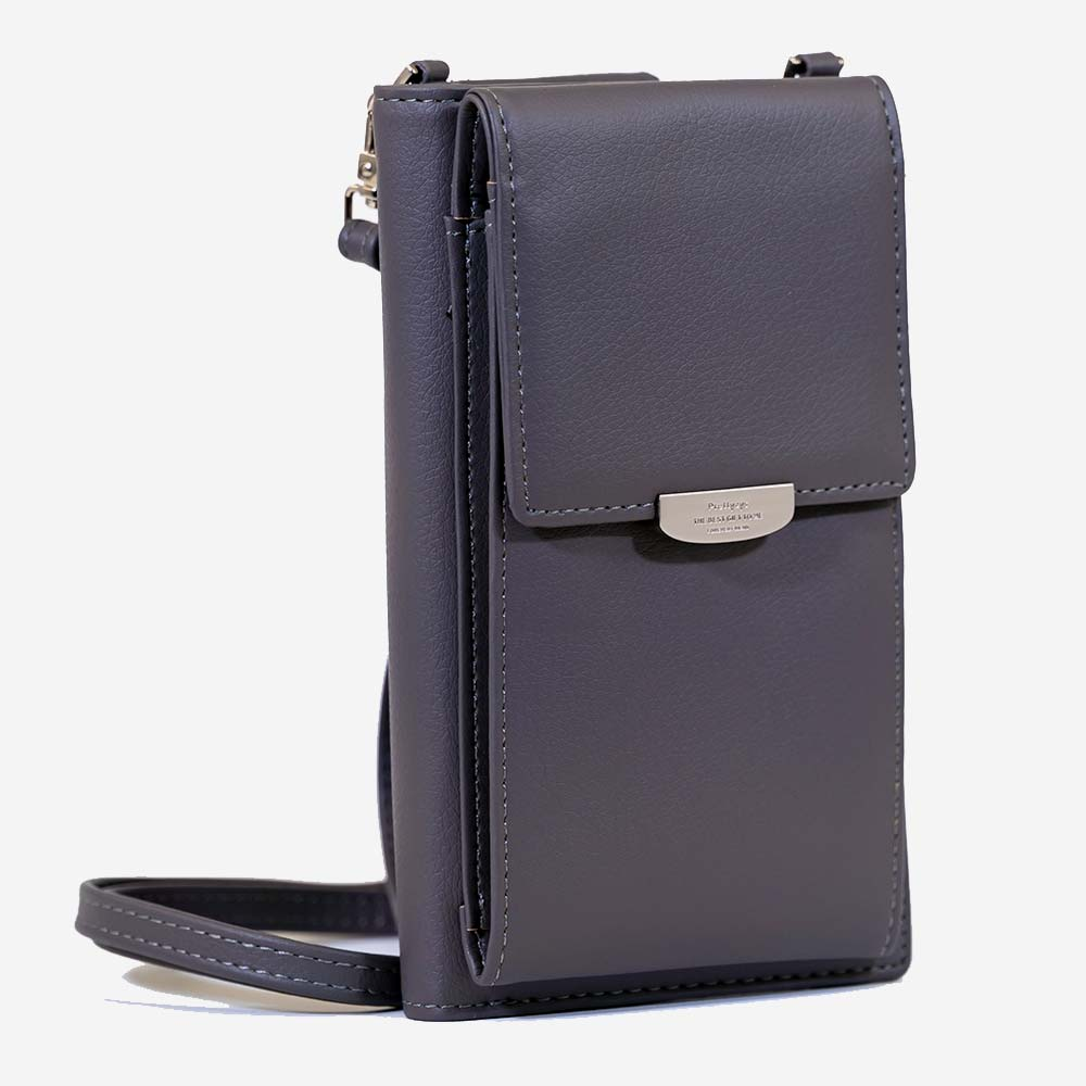 Crossbody Wallet and Phone Purse - Gray