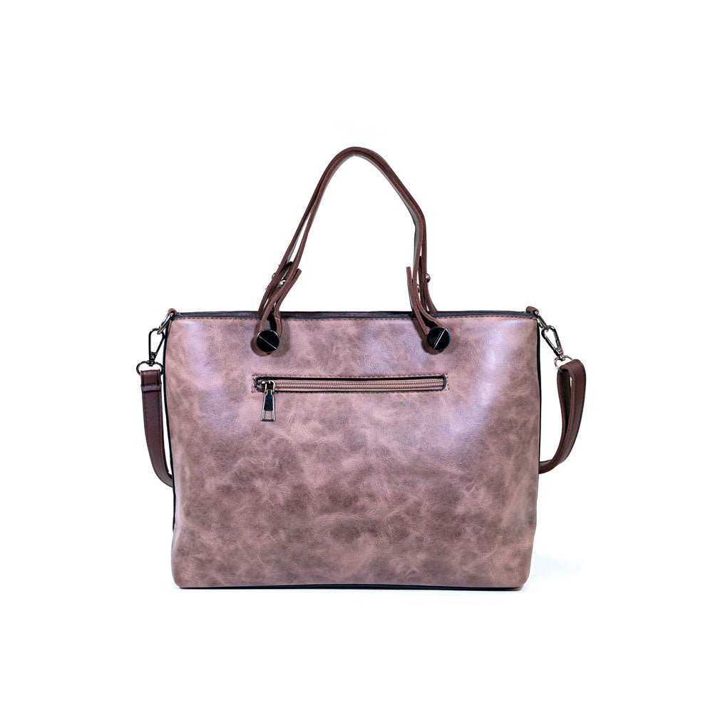 Large Capacity Designer Bag - Rose Brown