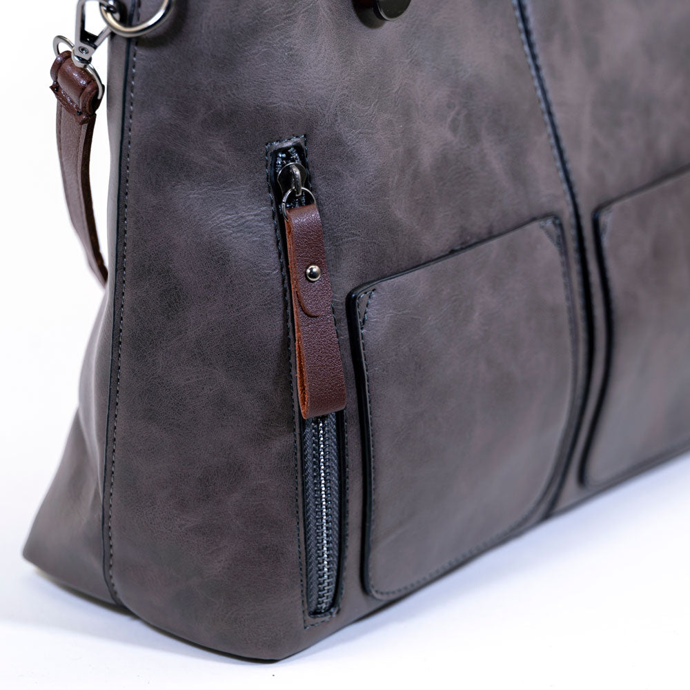 Large Capacity Designer Bag - Gray