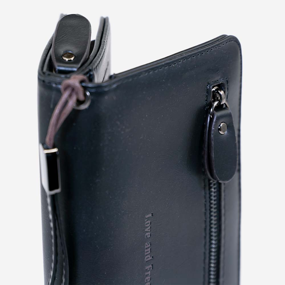 Love and Freedom Wallet - Black