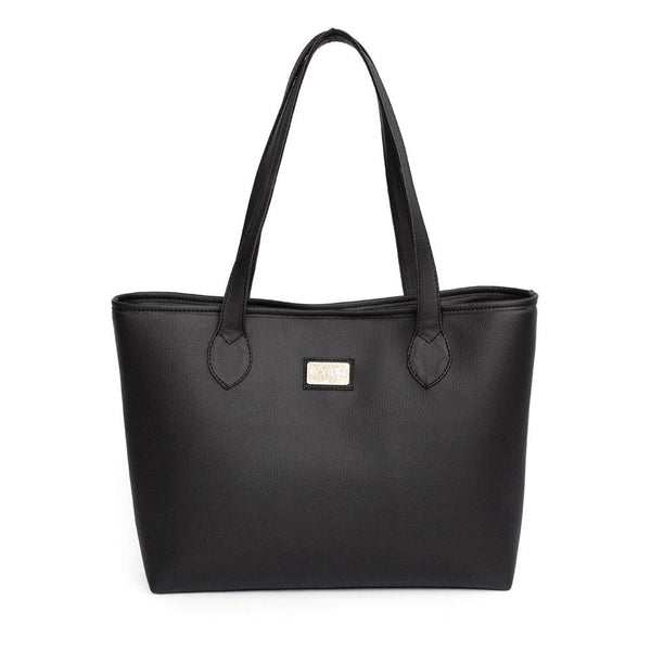Ivy & Fig Handbag Viola Tote with Pouch - Ebony