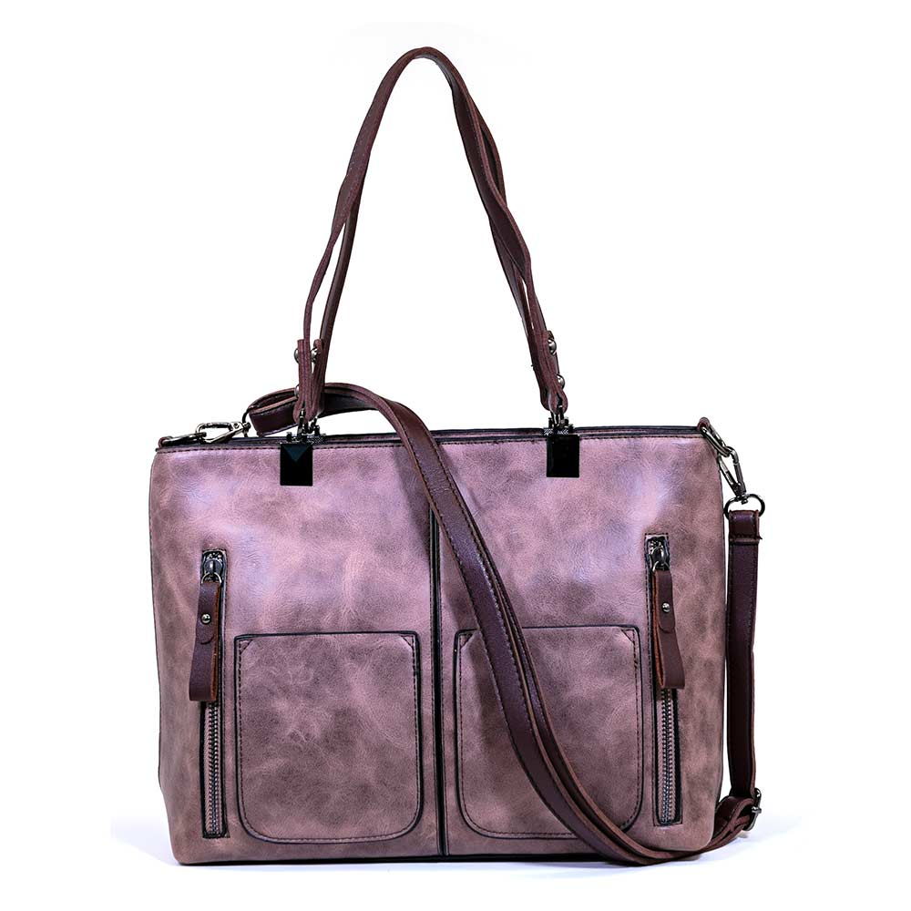 Madison Handbag - Rose Brown