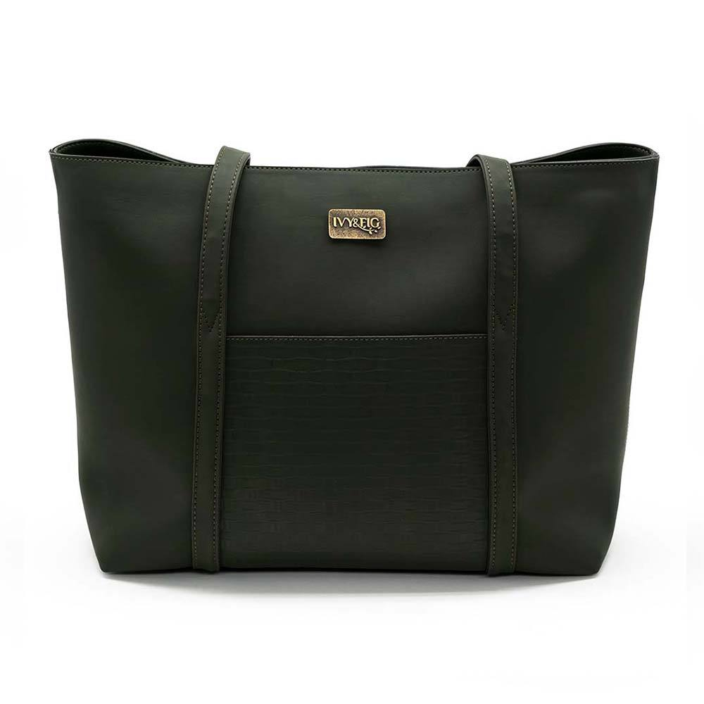 Ivy & Fig Handbag The Marcella Tote - Ivy