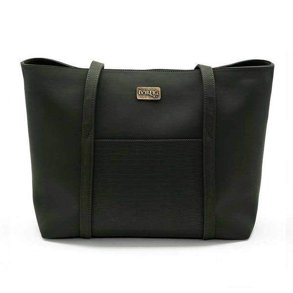 Ivy and Fig Vegan Leather Handbags Marcella Tote Ivy Green 1