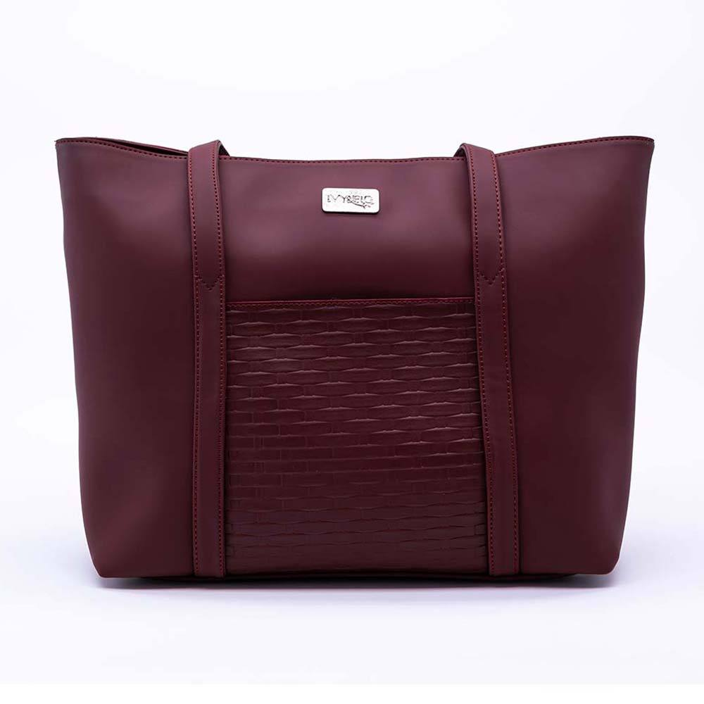 Ivy & Fig Handbag The Marcella Tote - Mulberry