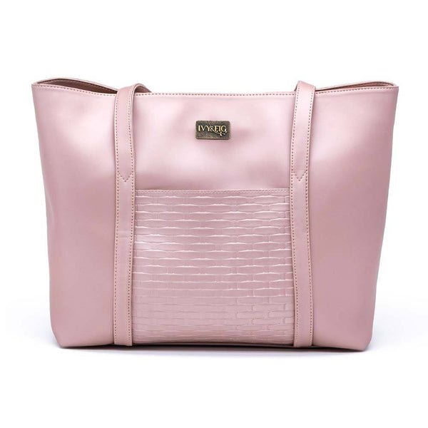 Ivy & Fig Handbag The Marcella Tote - Rose Pearl