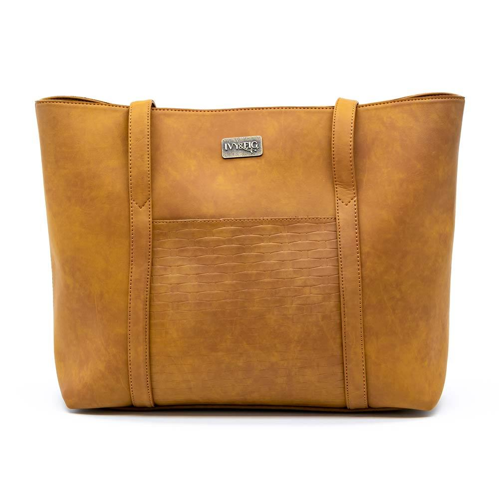 Ivy & Fig Handbag The Marcella Tote - Saddle