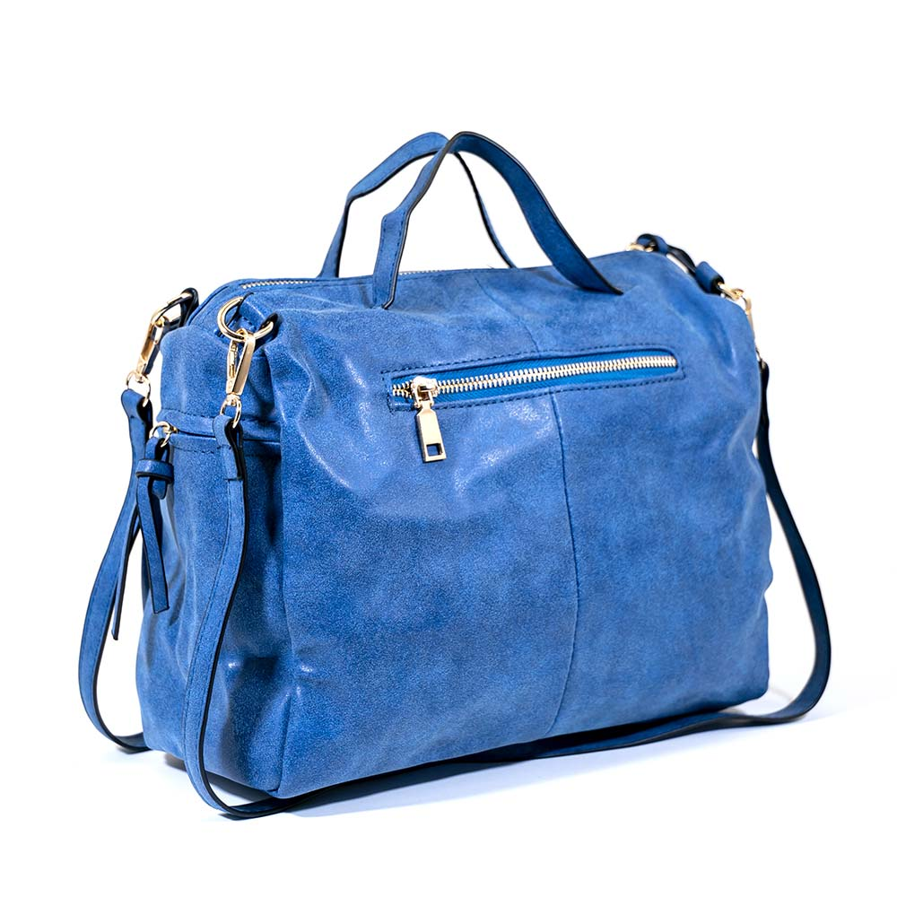 Natty Nubuck Messenger Bag - Blue