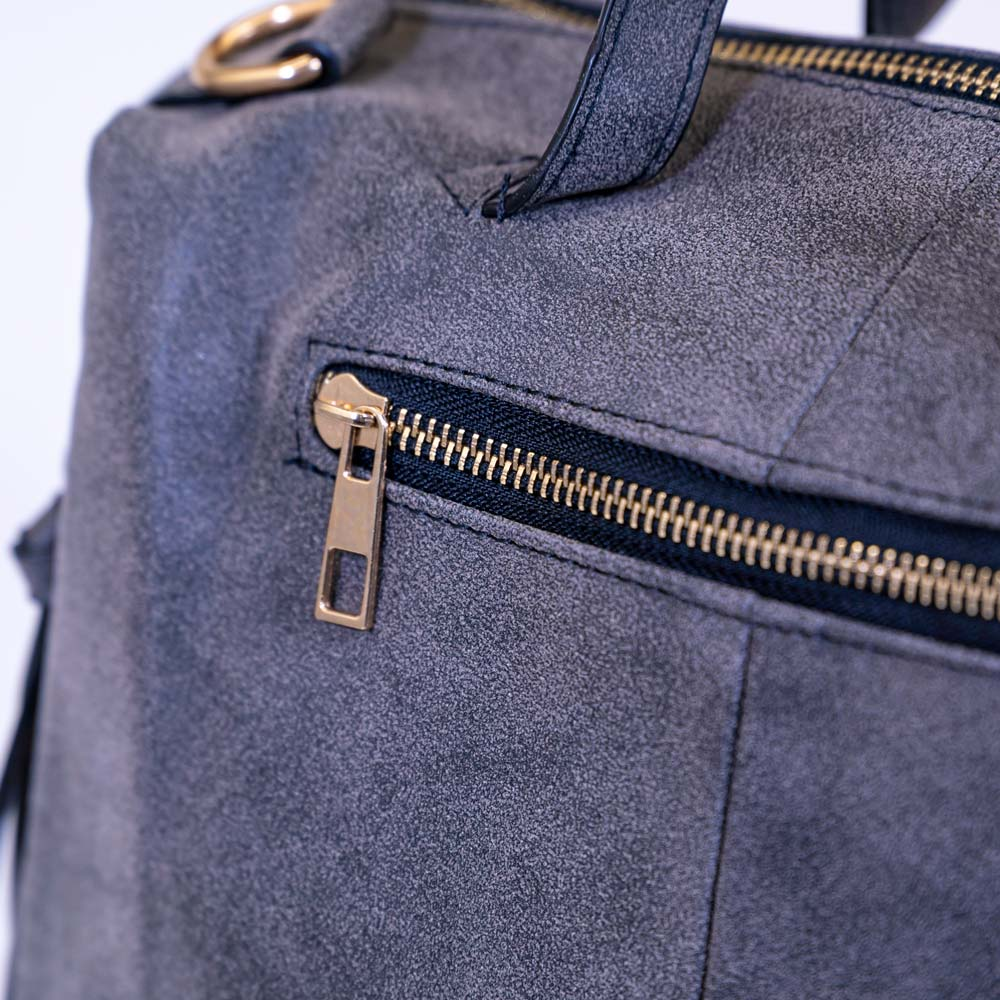 Natty Nubuck Messenger Bag - Gray
