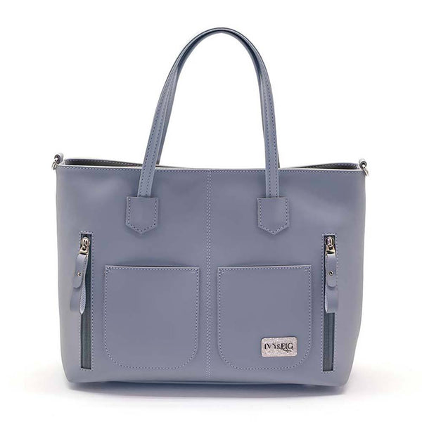 Ivy and Fig Vegan Leather Handbags Renata Handbag Fog Grey 1