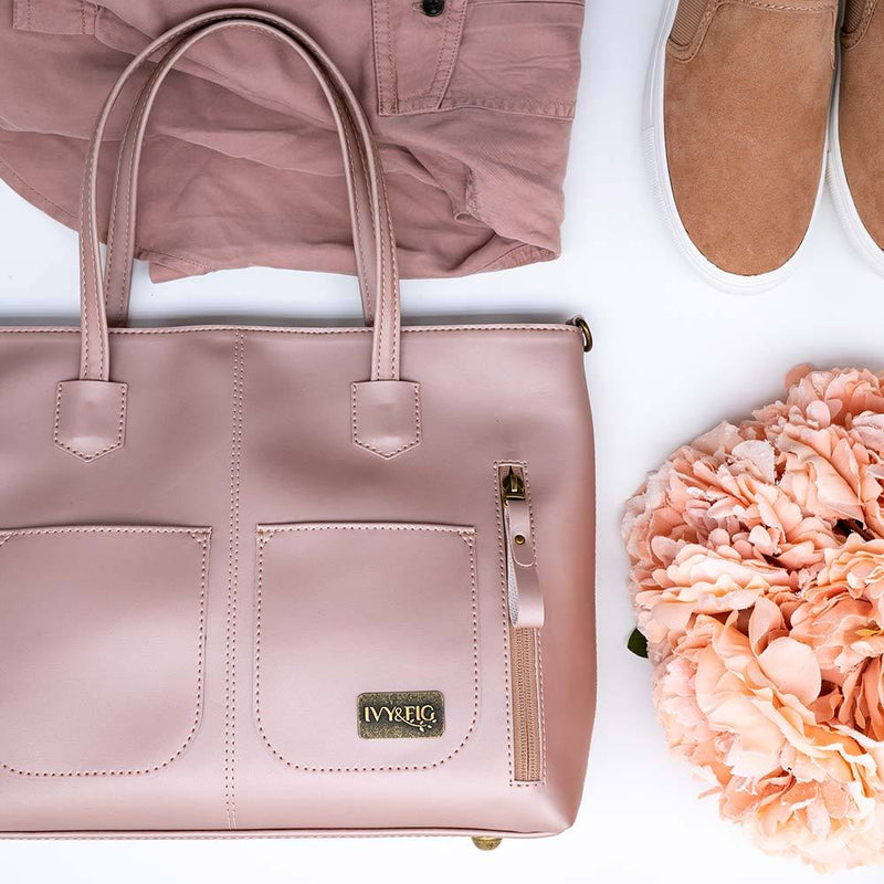 Ivy & Fig Handbag The Renata Handbag - Rose Pearl