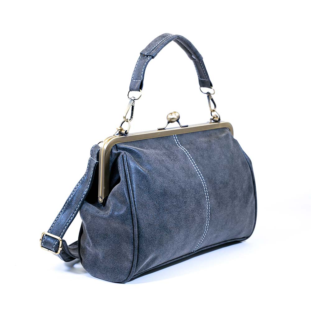 Retro Small Shoulder Bag - Gray