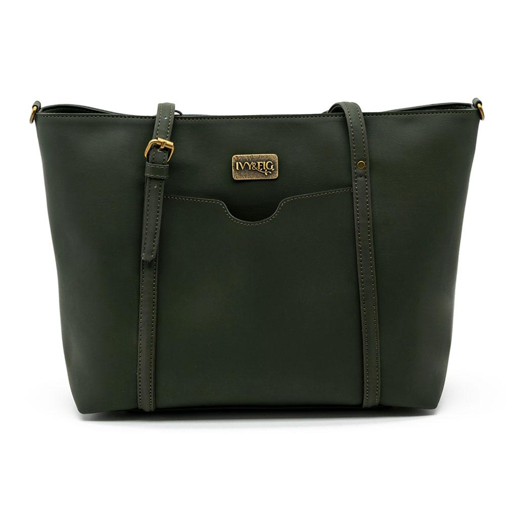 Ivy and Fig Vegan Leather Handbags Stella Daybag Ivy Green 1