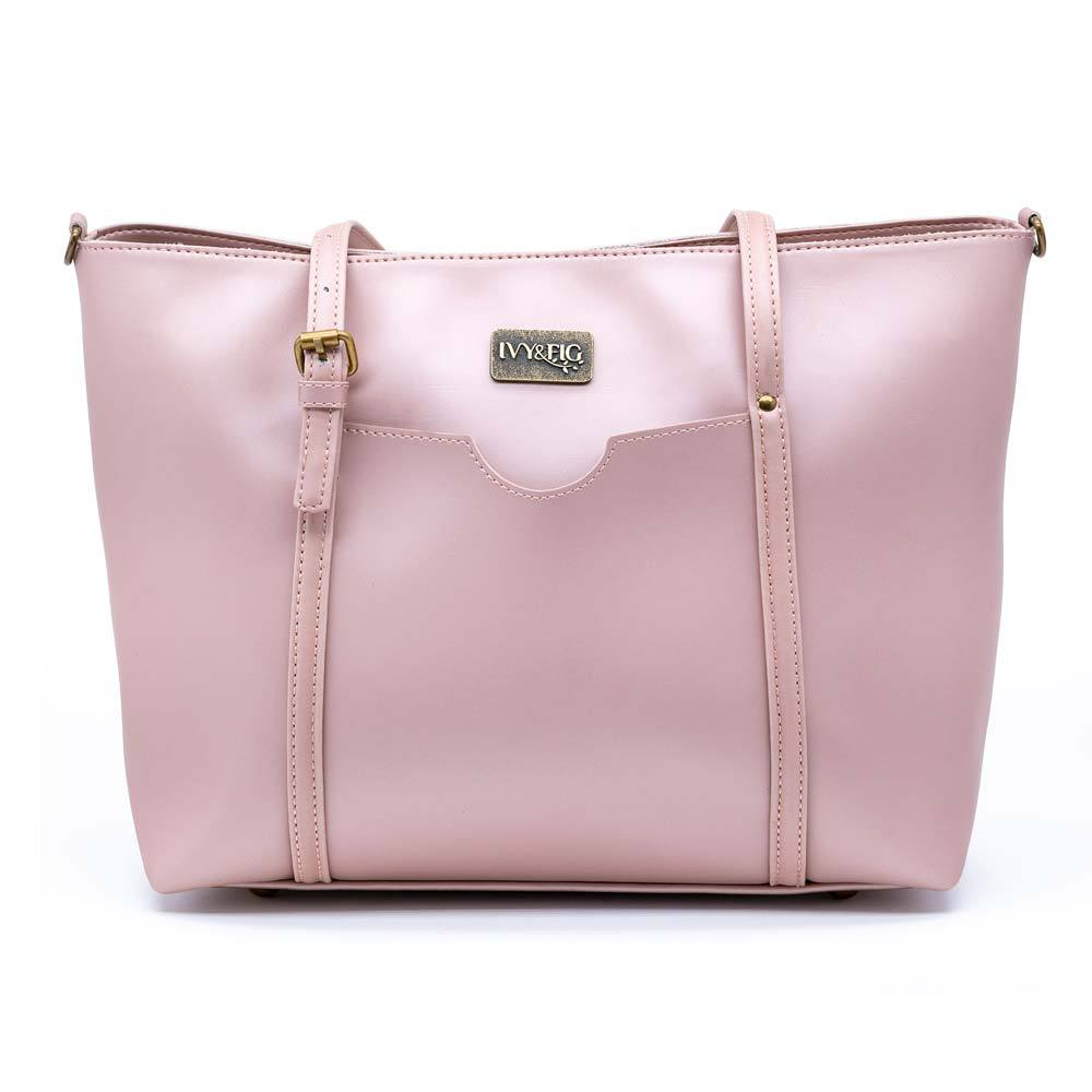 Ivy & Fig Handbag The Stella Daybag - Rose Pearl