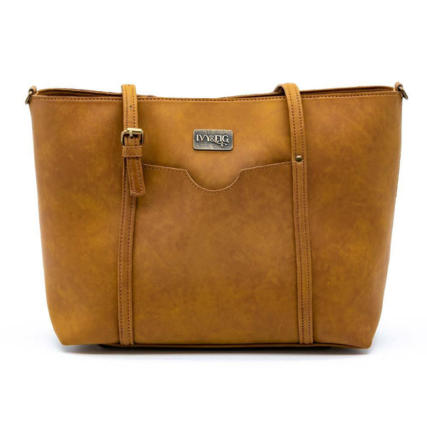 Ivy & Fig Handbag The Stella Daybag - Saddle