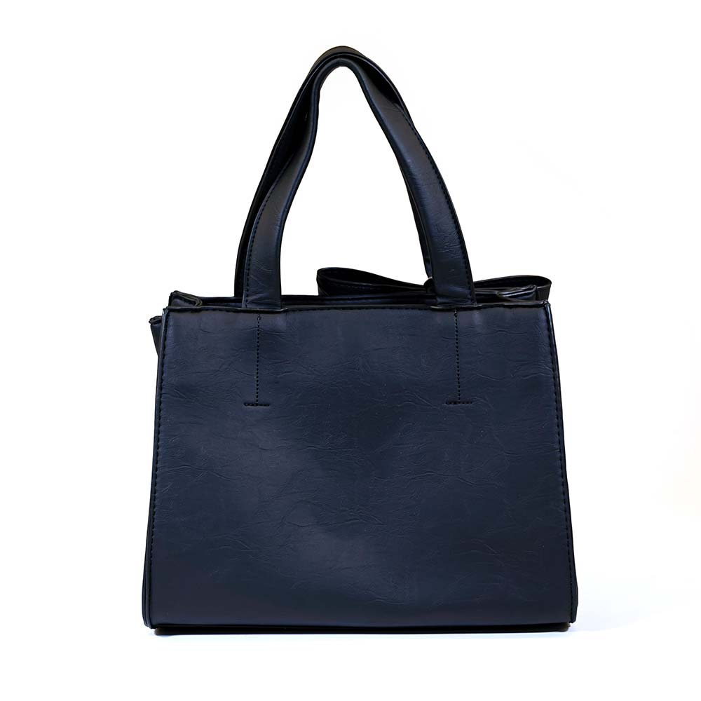 Stylish Bow Shoulder Bag - Black