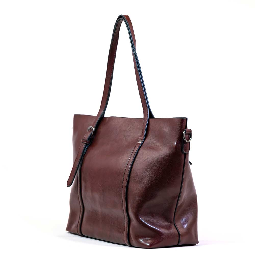 The Symphony Tote - Burgundy
