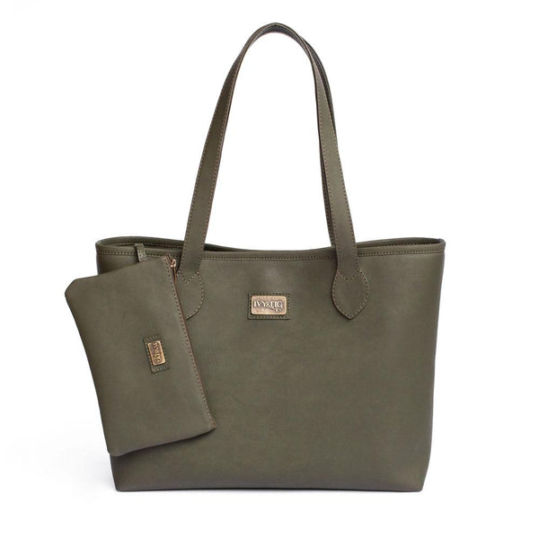 Ivy & Fig Handbag Viola Tote with Pouch - Ivy Green