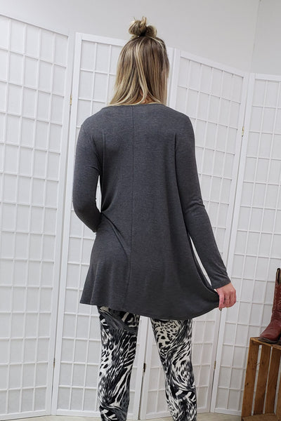 Gracie Charcoal Tunic