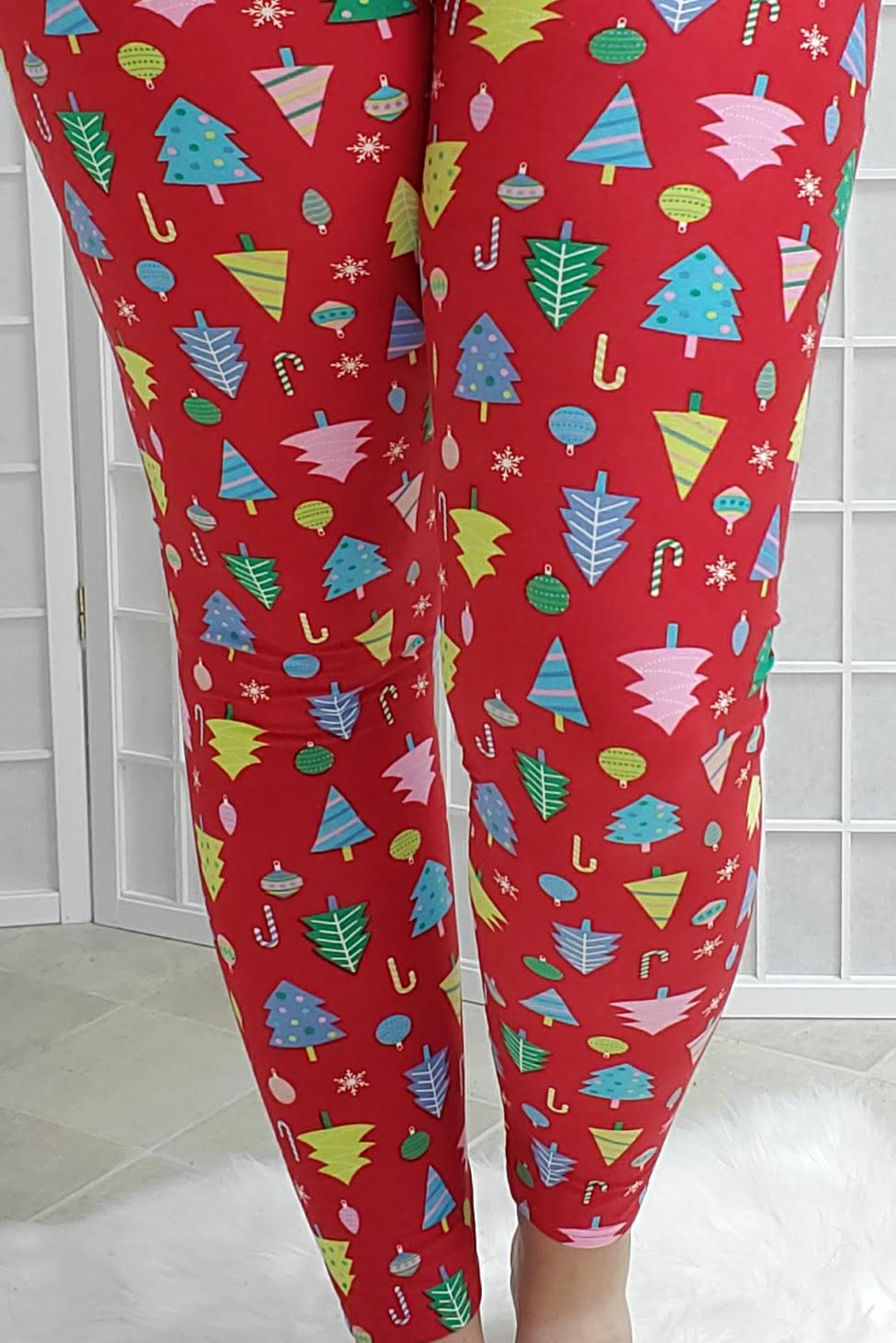 Christmas Tree Lot Leggings