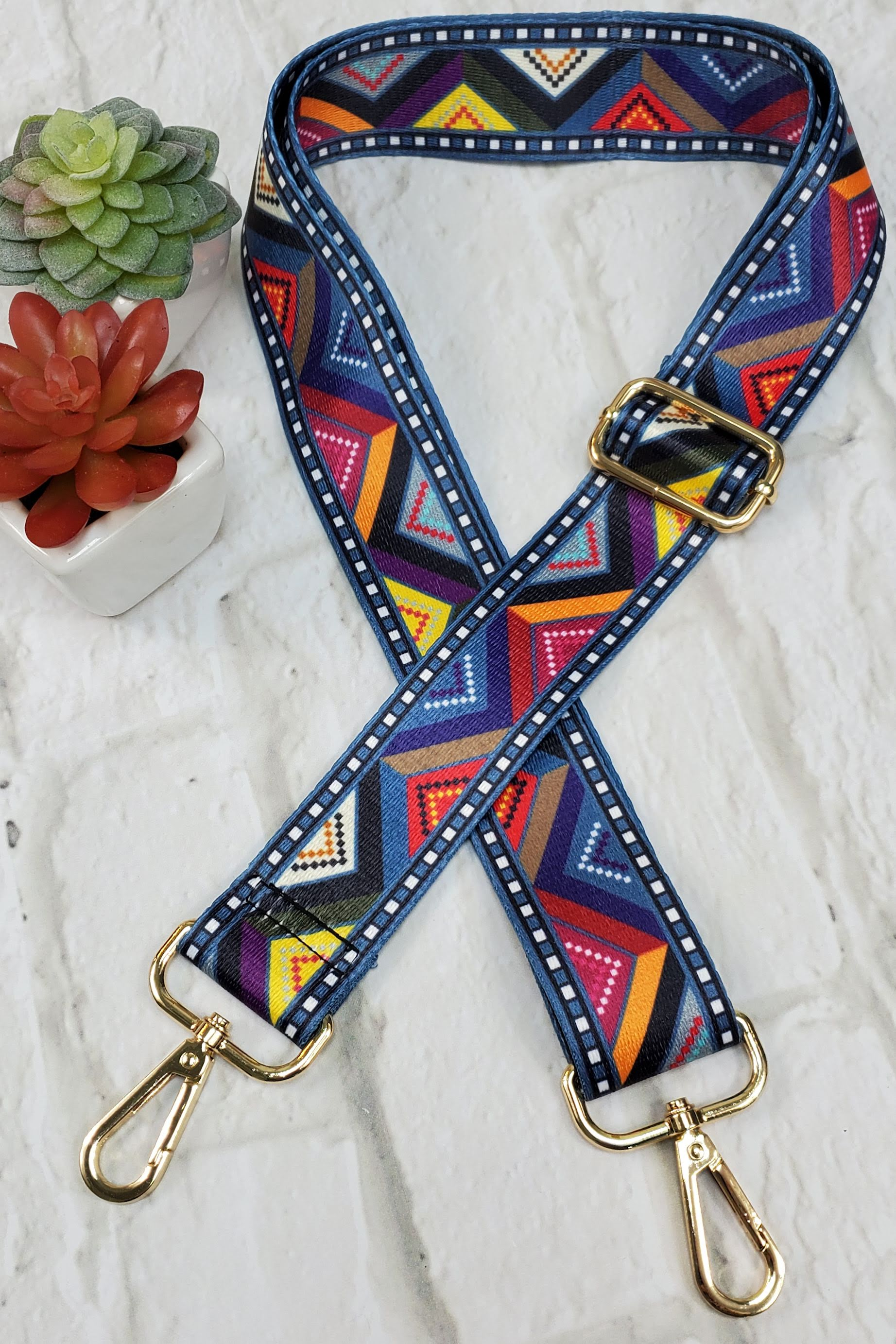 #4 Geometric Guitar Purse Strap