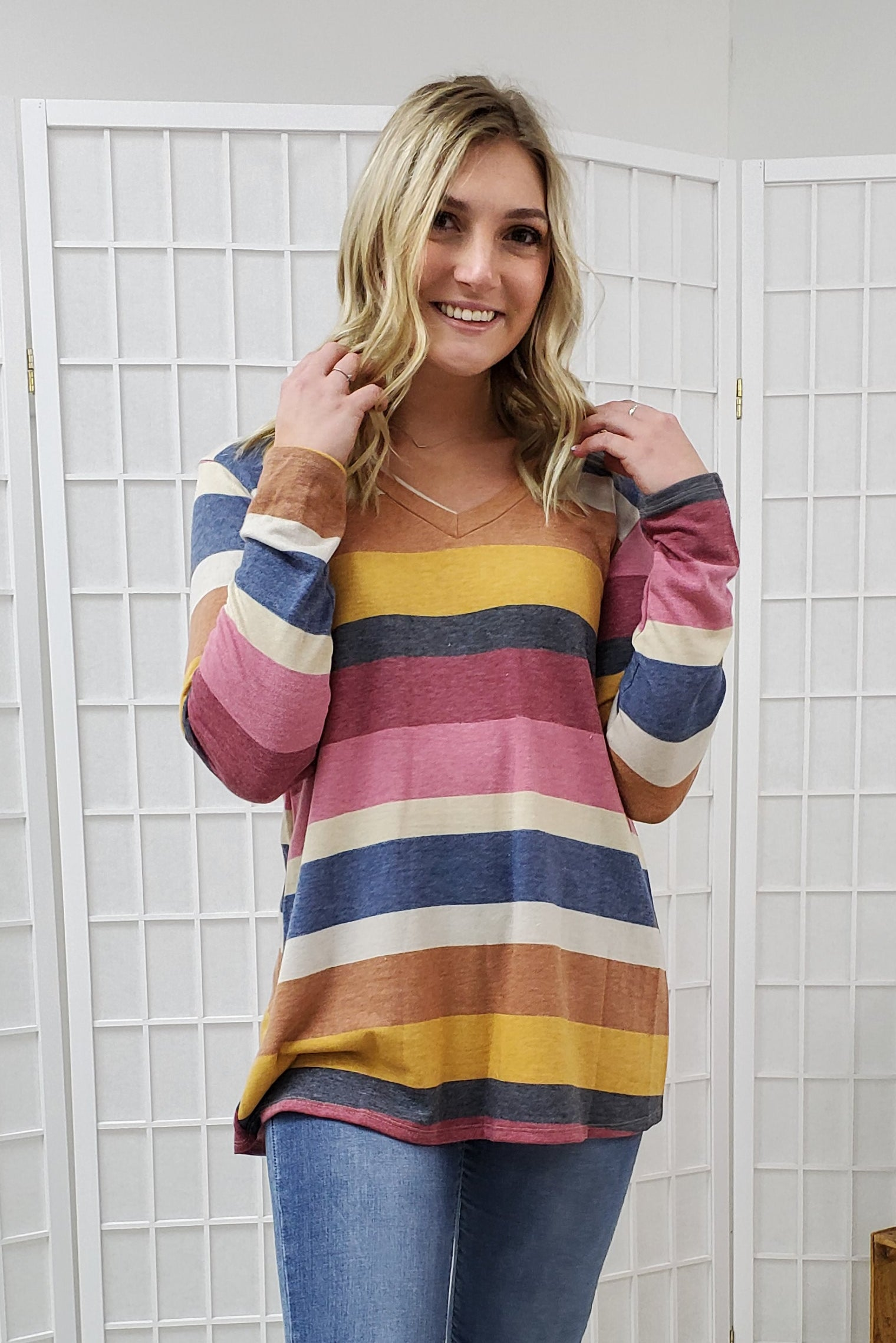 Tinley Color Block Top
