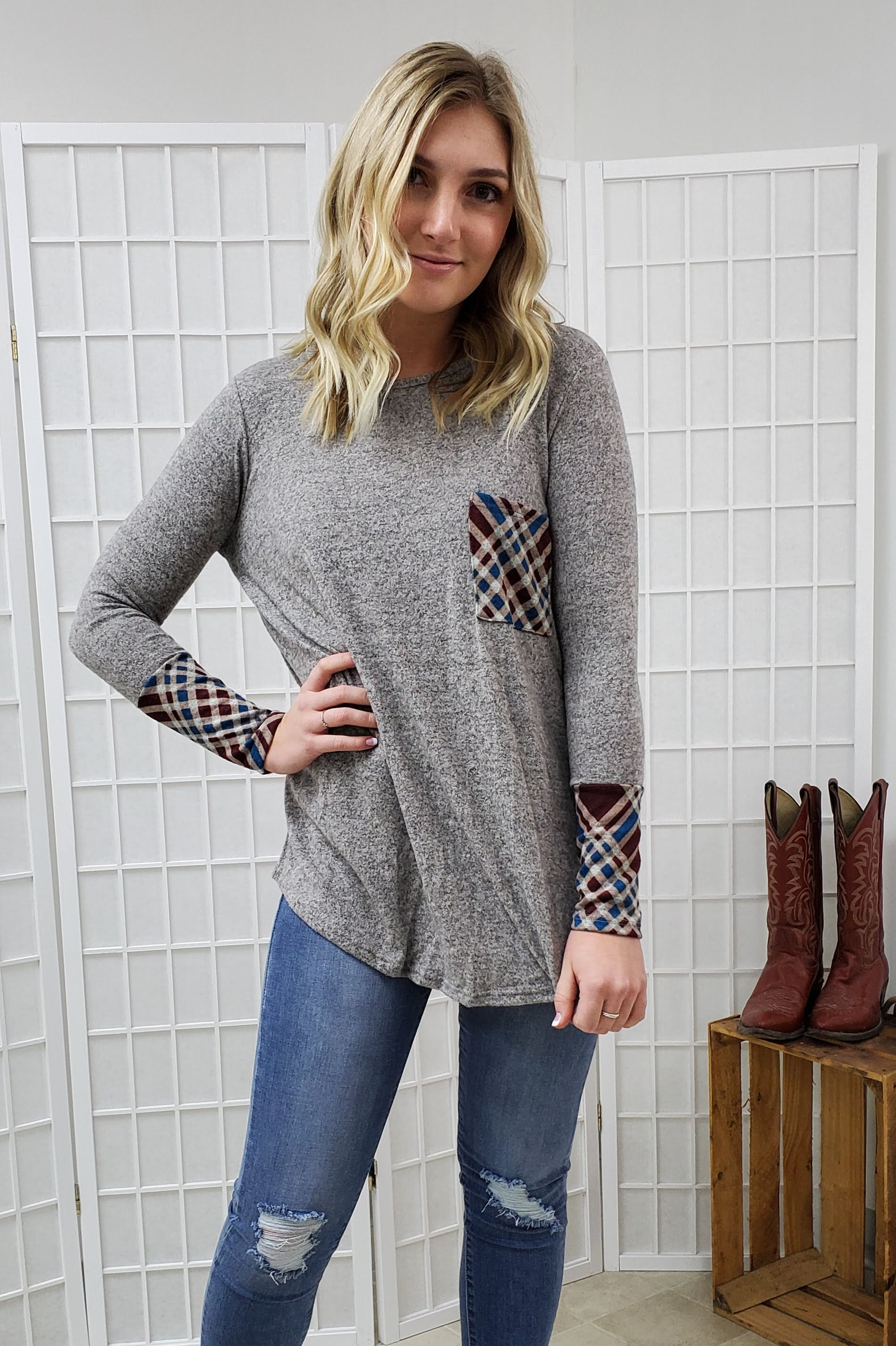Lenore Heather Grey Top