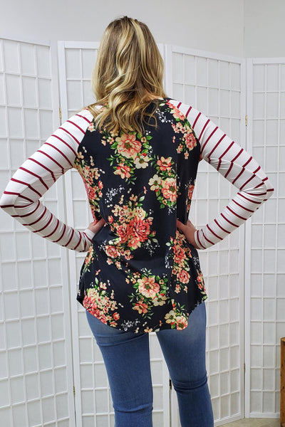 Macey Brooke Floral Top