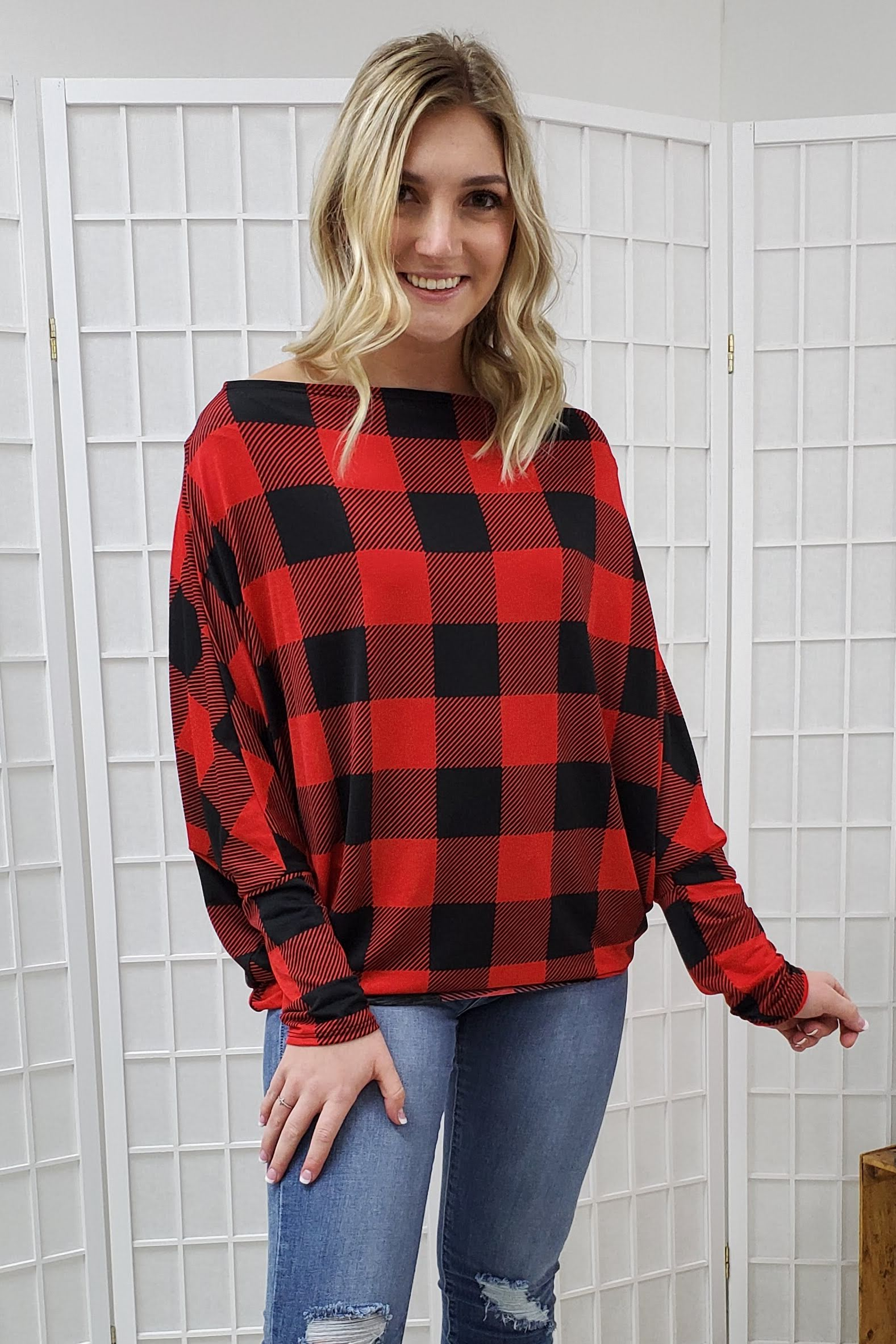 Barbara Plaid Top
