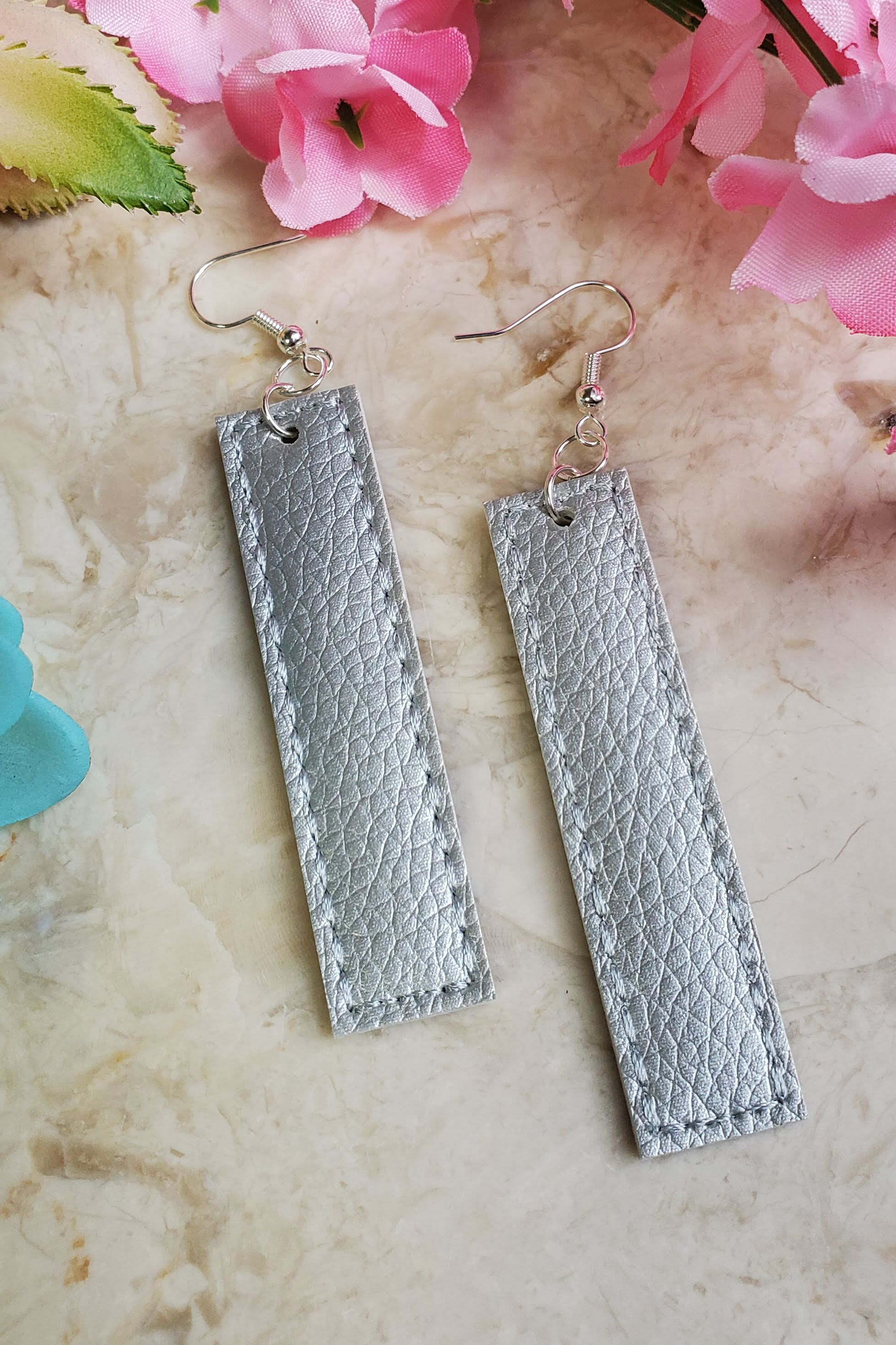 Silver Bar Handcrafted22 Earrings B-225