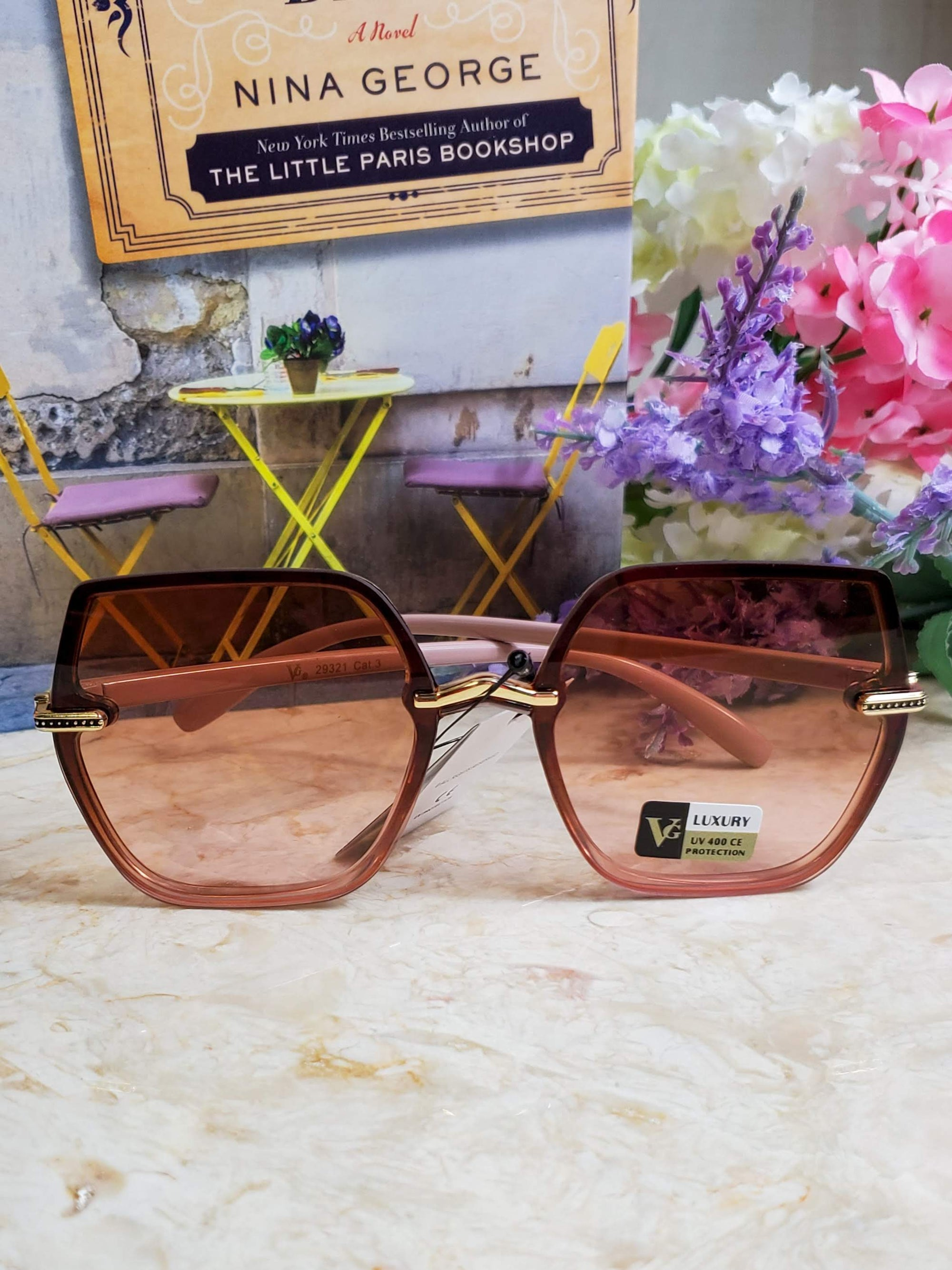 Yantz Light Mauve Brown Sunglasses