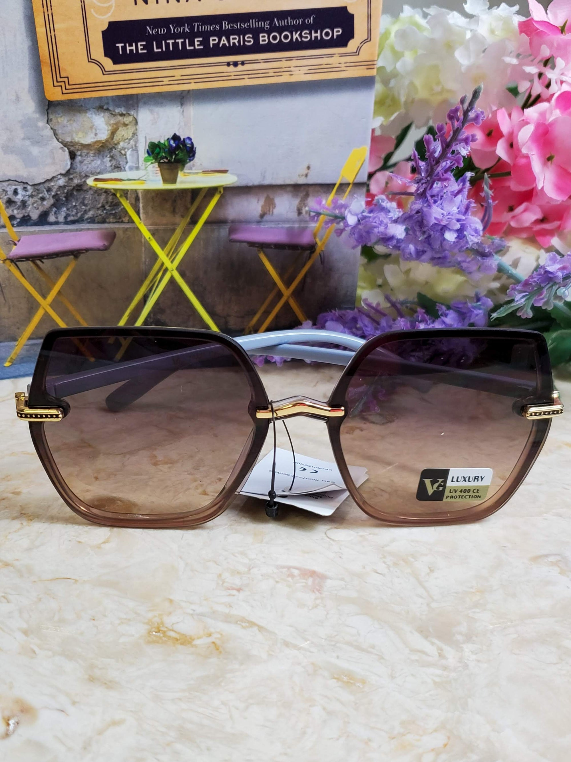 Yantz Brown Lilac Sunglasses