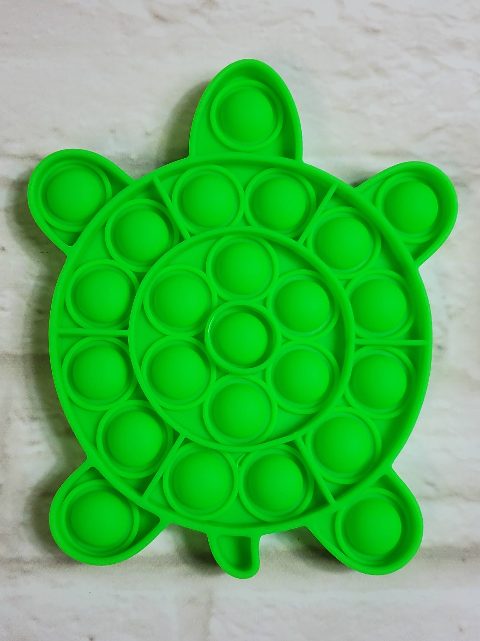 Green Turtle Pop It Bubble Fidget Toy